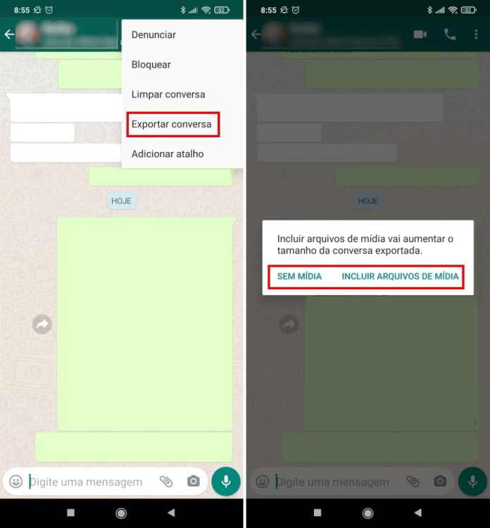 Como migrar conversas do WhatsApp para o Telegram no Android - Passo 3