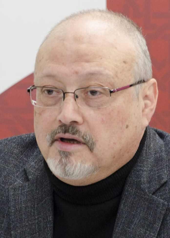 Imagem mostrando o jornalista Jamal Khashoggi, assassinado pelo governo saudita em 2018.