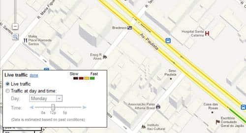 Maps em tempo real