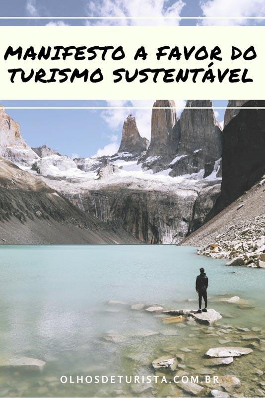 Um singelo manifesto a favor do turismo sustentável. Por um mundo com mais unido, bem, em paz... levado isso para nossas viagens.