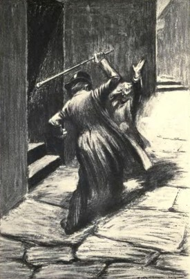 Artwork by Charles Raymond Macauley for Dr Jekyll and Mr Hyde [Public domain]