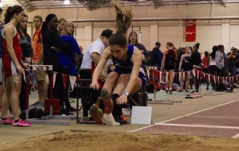 Girls indoor track running at full force