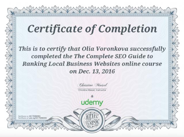 local seo certification