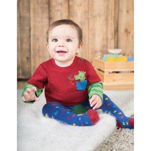 Shirt van organisch katoen met babydraakje