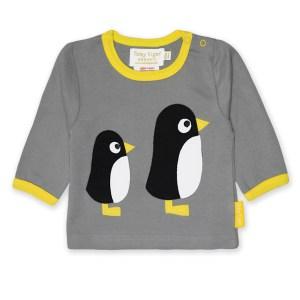 Shirt van organisch katoen met pinguins