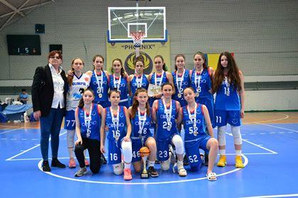 mandica - Baschetbalistele U15 vicecampioane naționale