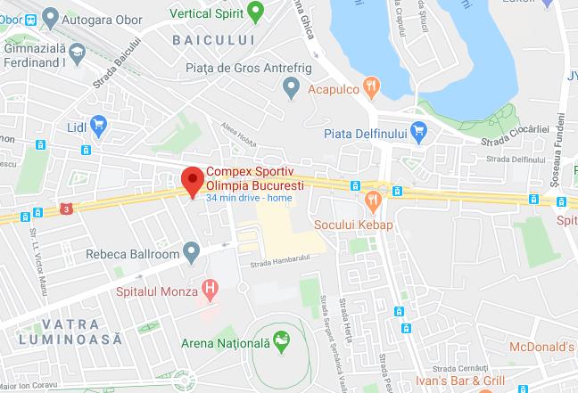 Harta Complex Olimpia Bucuresti - Contact