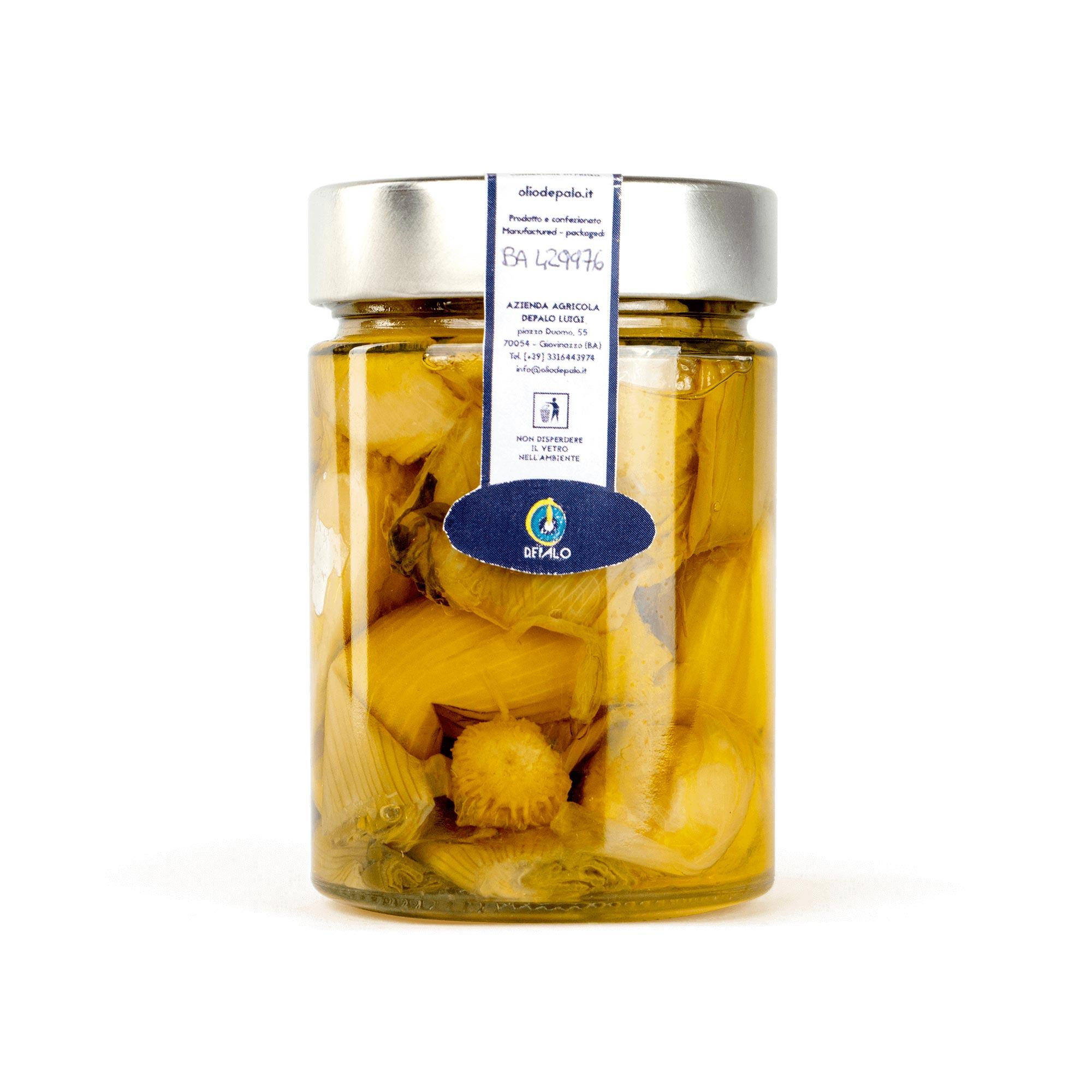 sponsali sott'olio olio depalo prodotti tipici di puglia