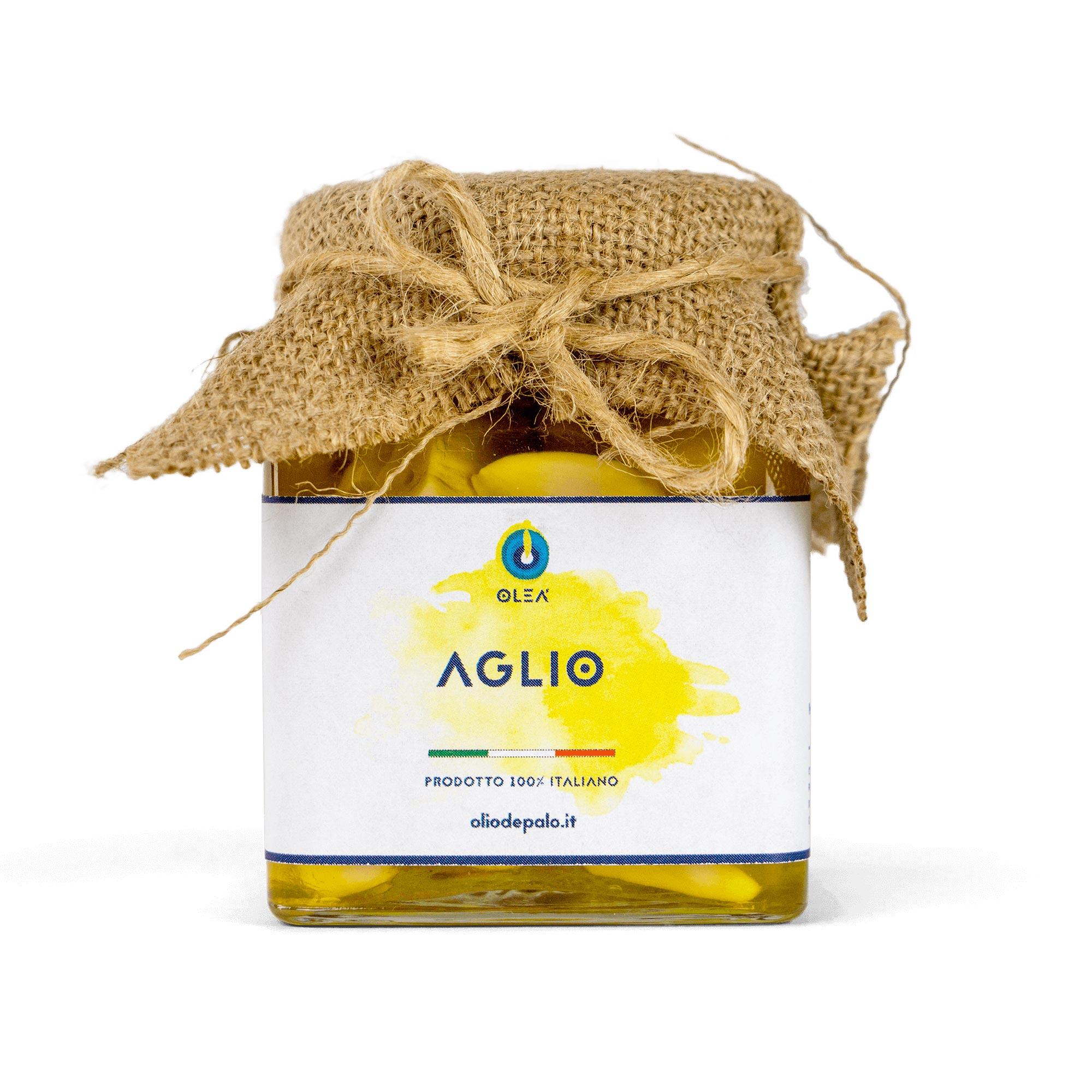 aglio sott'olio olio depalo prodotti tipici di puglia