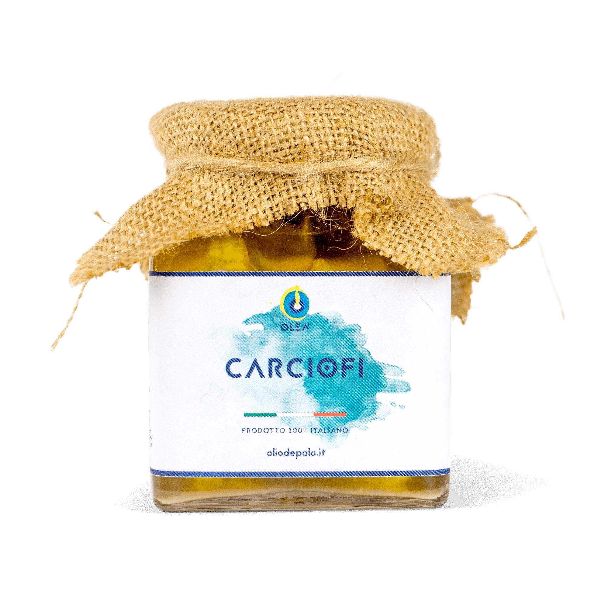 carciofi sott'olio Olio Depalo prodotti tipici di Puglia