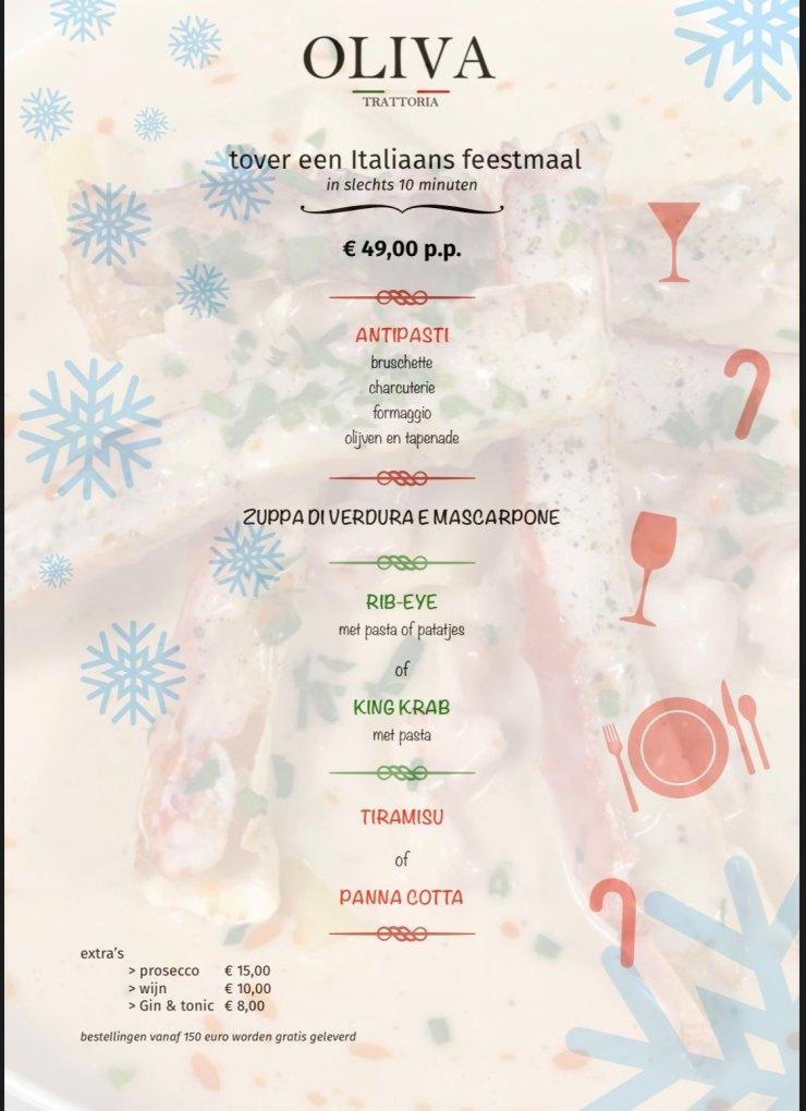 menu kerst