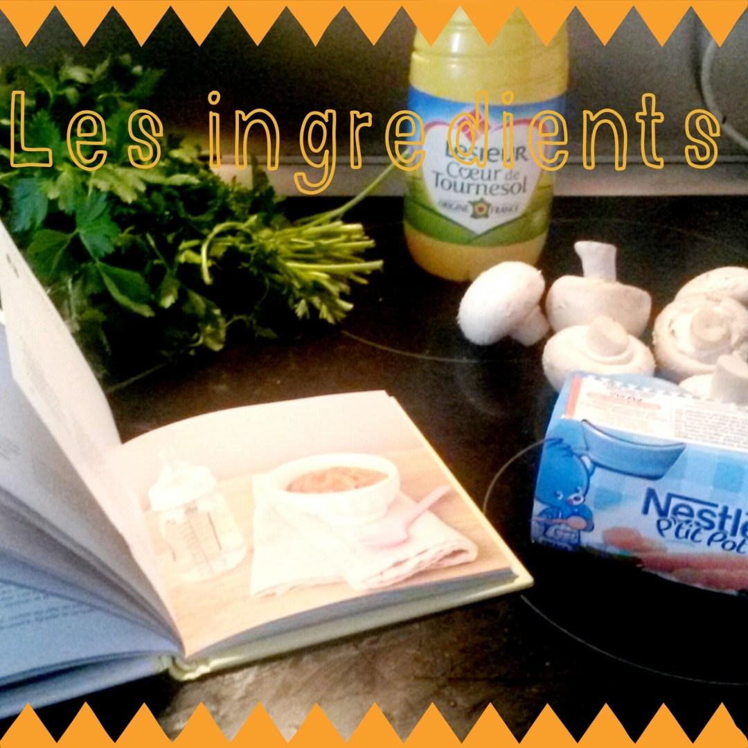 Recette #12 Purée de carotte aux petits champignons
