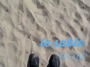 La mer de sable avec une trois ans !