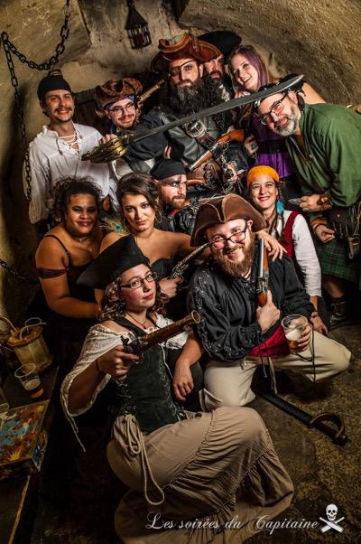 barbe noire soirée du capitaine groupe pirate paris