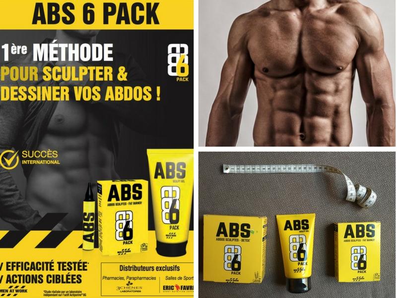 ABS 6 pièces pour sculpter les abdominaux   – abdo