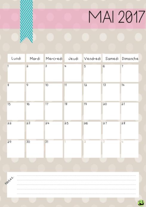 calendrier mai 2017