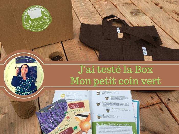 Test de la box Mon Petit coin vert