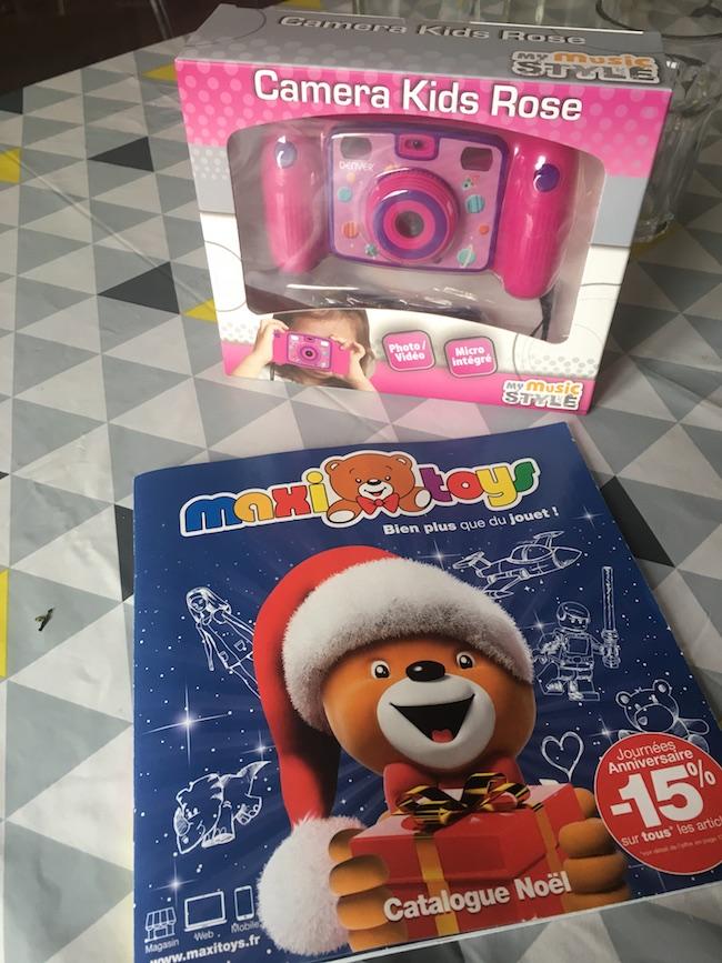 Reception de notre joli appareil photo maxitoys pour enfant