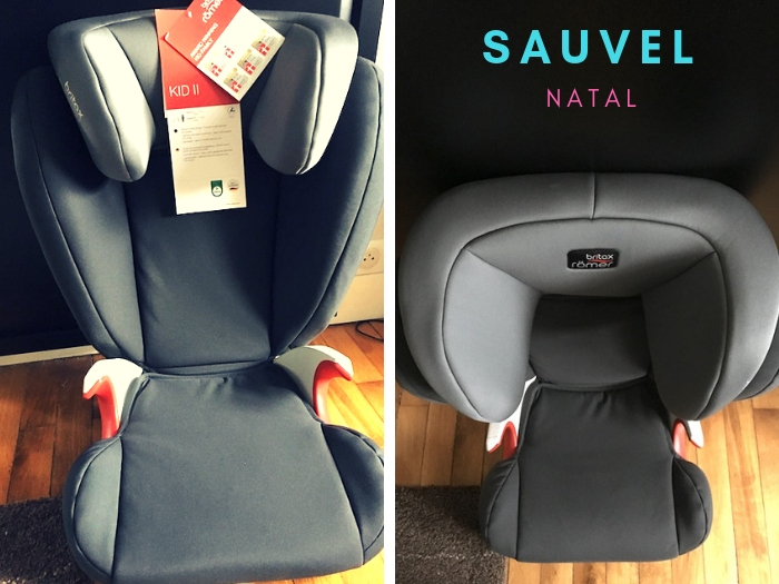 On a testé le siège auto Britax Römer avec Sauvel Natal