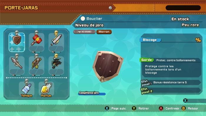 Armes du personnage de snack world mordus de donjons