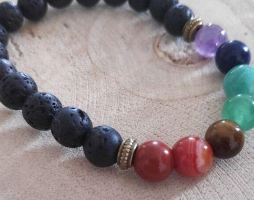 Bracelet Pierres de lave guérison Karma Yoga Shop
