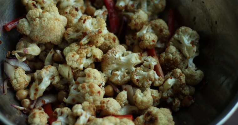 Roasted Cauliflower with Thai Sweet Chilli Sauce
