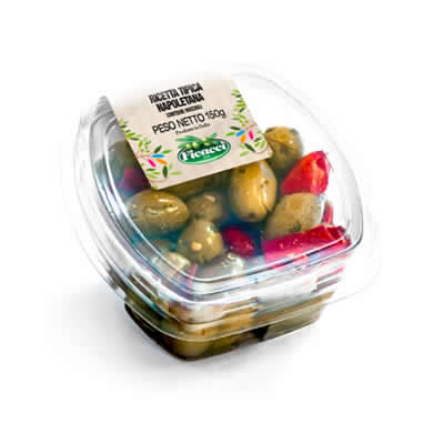 Ricetta tipica regionale napoletana olive nocellara etnea schiacciate 150g