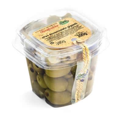 olive verdi denocciolate giganti 200g