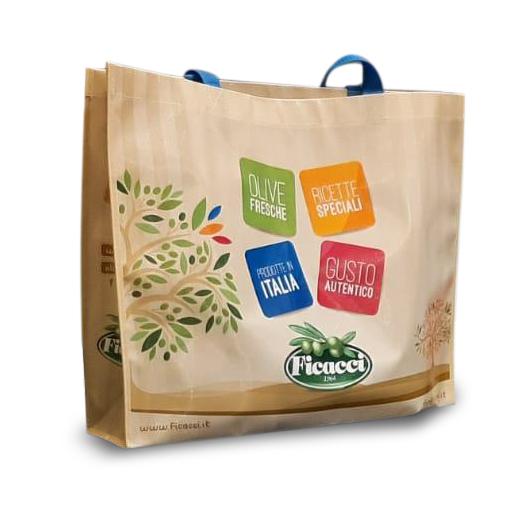 shopper ficacci olive fashion bag borsa per la spesa