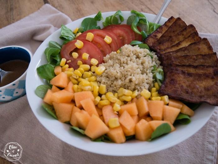 Salade Tofu Vegan Sans Gluten