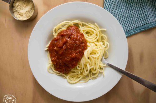 Sauce tomate vegan et sans gluten