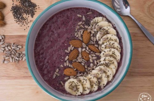 Smoothie bowl vegan sans gluten