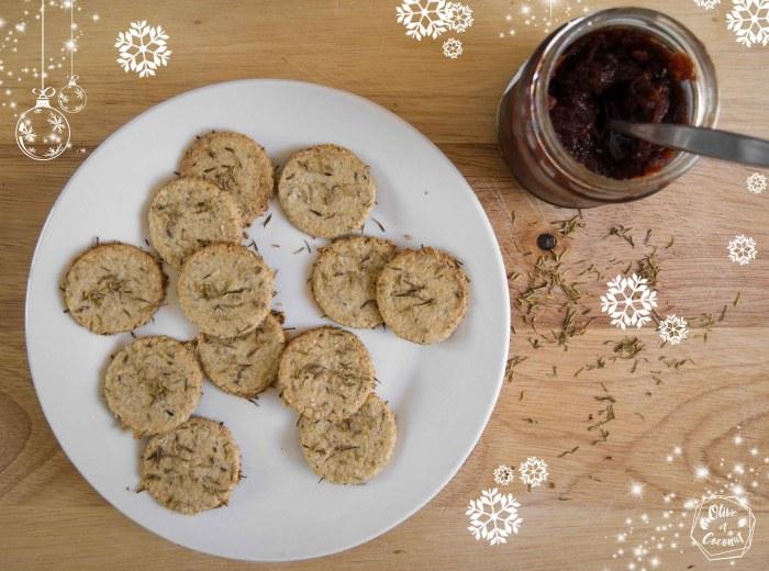 Crackers apéritif Noël Vegan