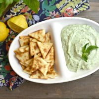 5 Minute Basil Cottage Cheese Dip