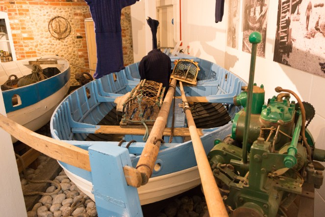 Mollie Florence fishing boat. Photos of the historic lifeboats and fishing boats collection in Sheringham museum. (http://www.sheringhammuseum.co.uk)