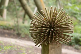 The third post on the Pretty Corner Woods trail. Shame so many of the bristles on the top had been snapped off, this is the only angle left where it looks like this.