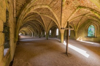 Inside the Fountains Abbey cellarium. Photos from National Trust Fountains Abbey and Studley Royal Water Garden, in North Yorkshire.