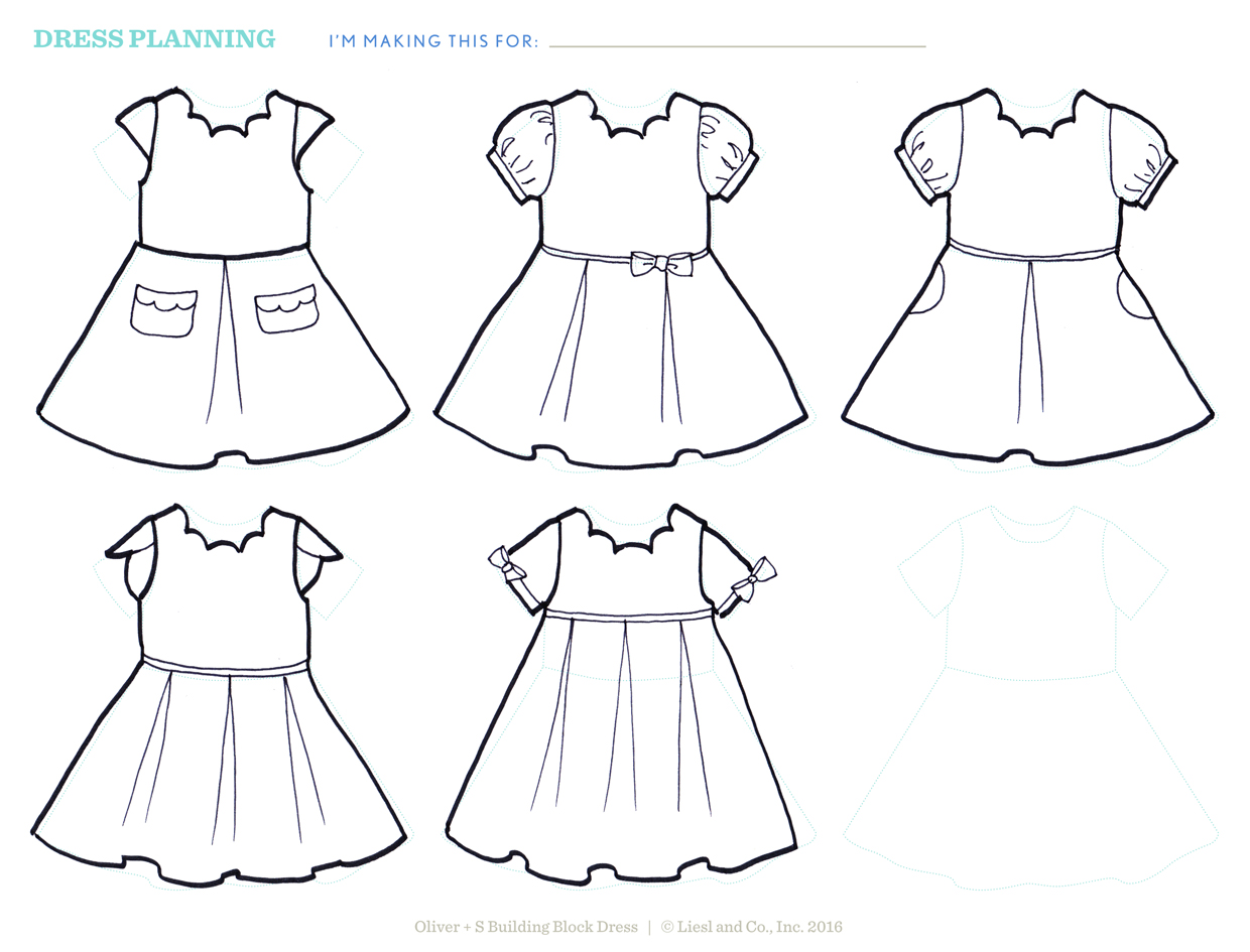 Brainstorming Your Dress With A Design Sheet Free