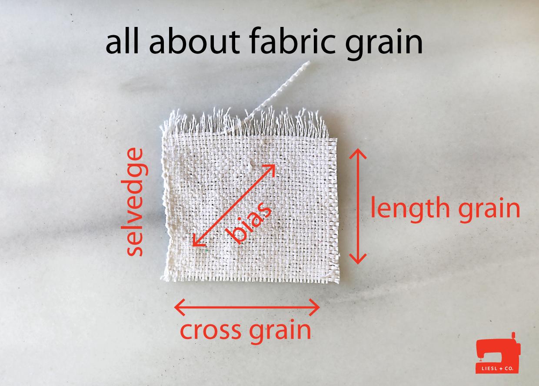 Fabric Grain Line Pattern