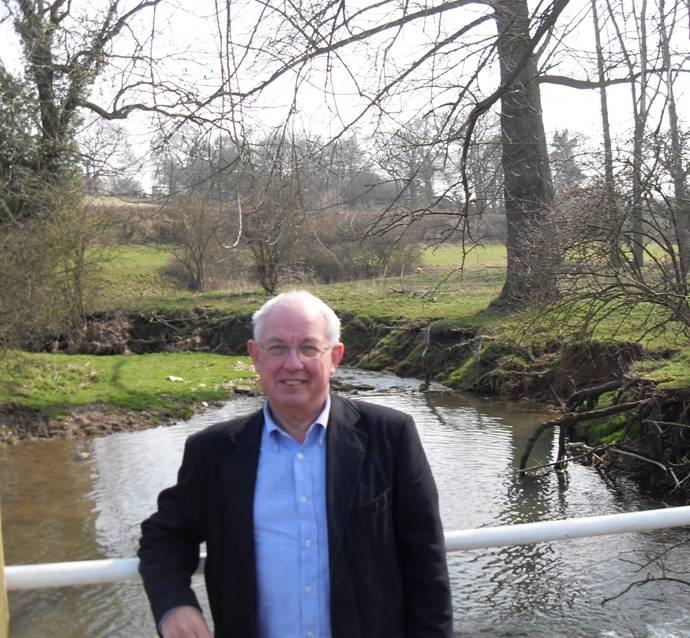 Councillor Nigel Poulton beside the Beane