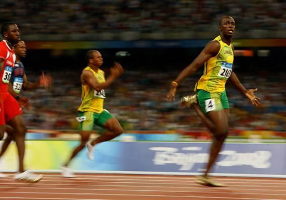 Jamaica's Usain Bolt sprints to victory