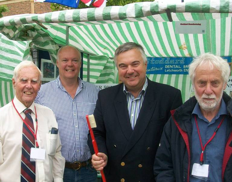 Me visiting the Stoddards stand at the Letchworth Exhibition