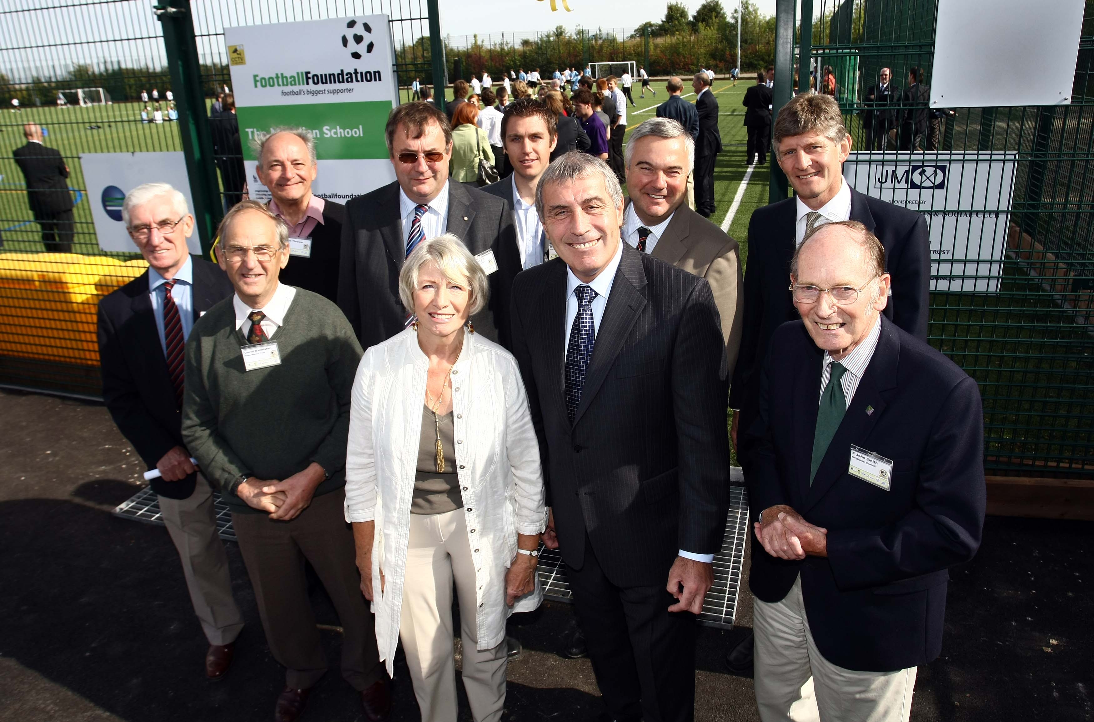 Peter Shilton with leading Royston figures