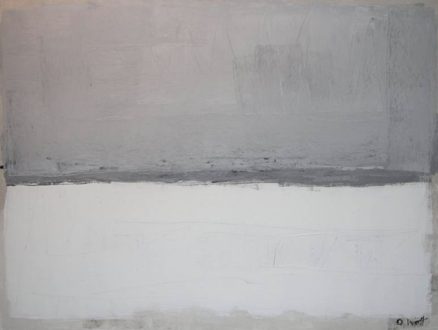 Derrida abstract painting by oliver watt