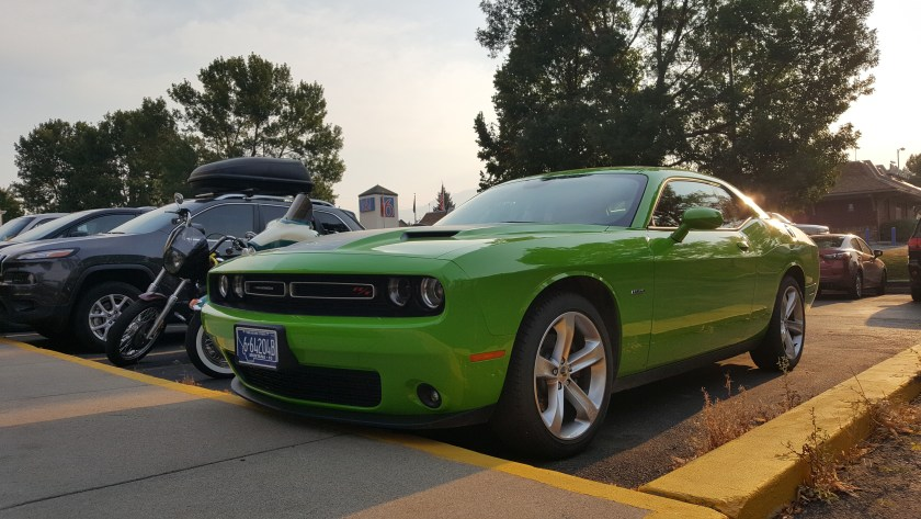 The Dodge Challenger R/T I was given