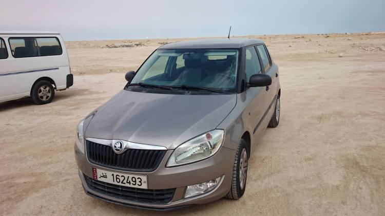 The Skoda Fabia I drove in Qatar