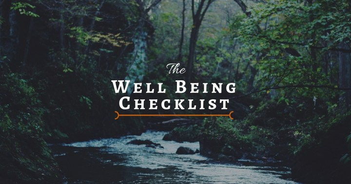 well being checklist
