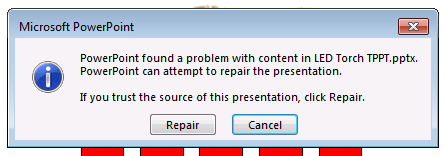 The dreaded repair warning