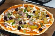 Pizzaboden mit Belag
