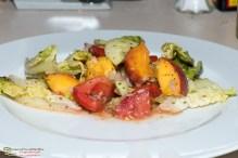 Tomaten Pfirsich Salat